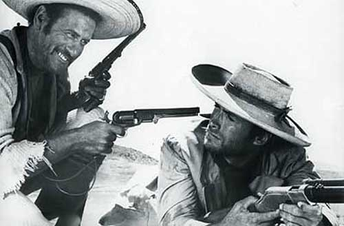 Eli Wallach and Clint Eastwood