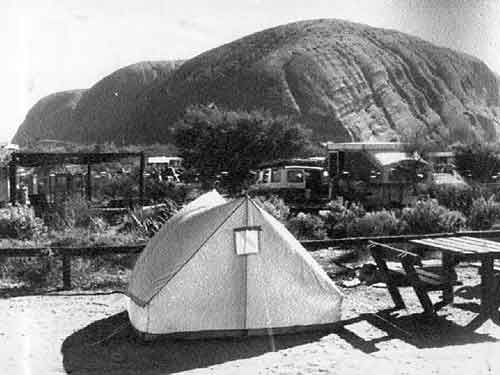 The Chamerlain's tent and campsite