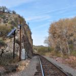 Train tracks along the Hassayampa River